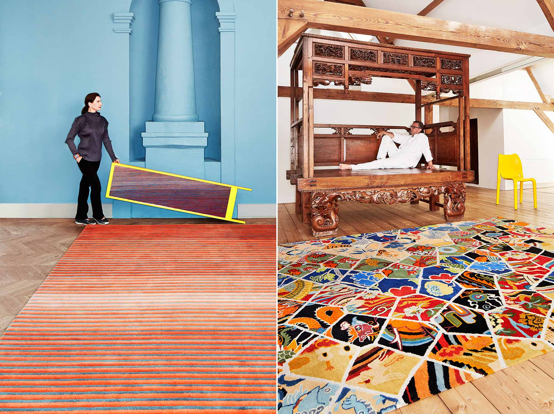 Dutch designers Roderick Vos and Claire Vos for Ice international carpets