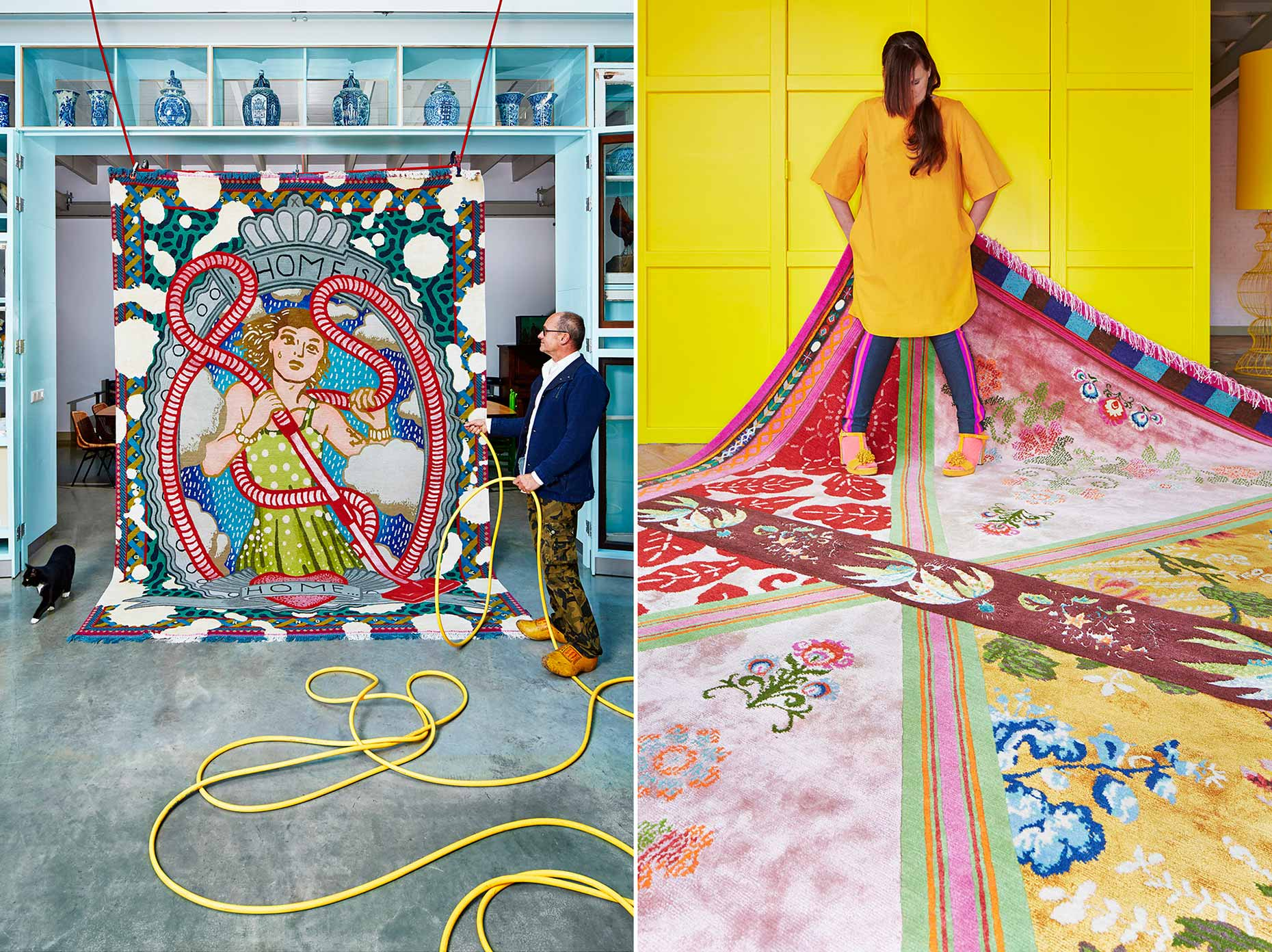 Dutch designers Petra Janssen and edwin Vollebergh of Studio Boot for Ice International carpets