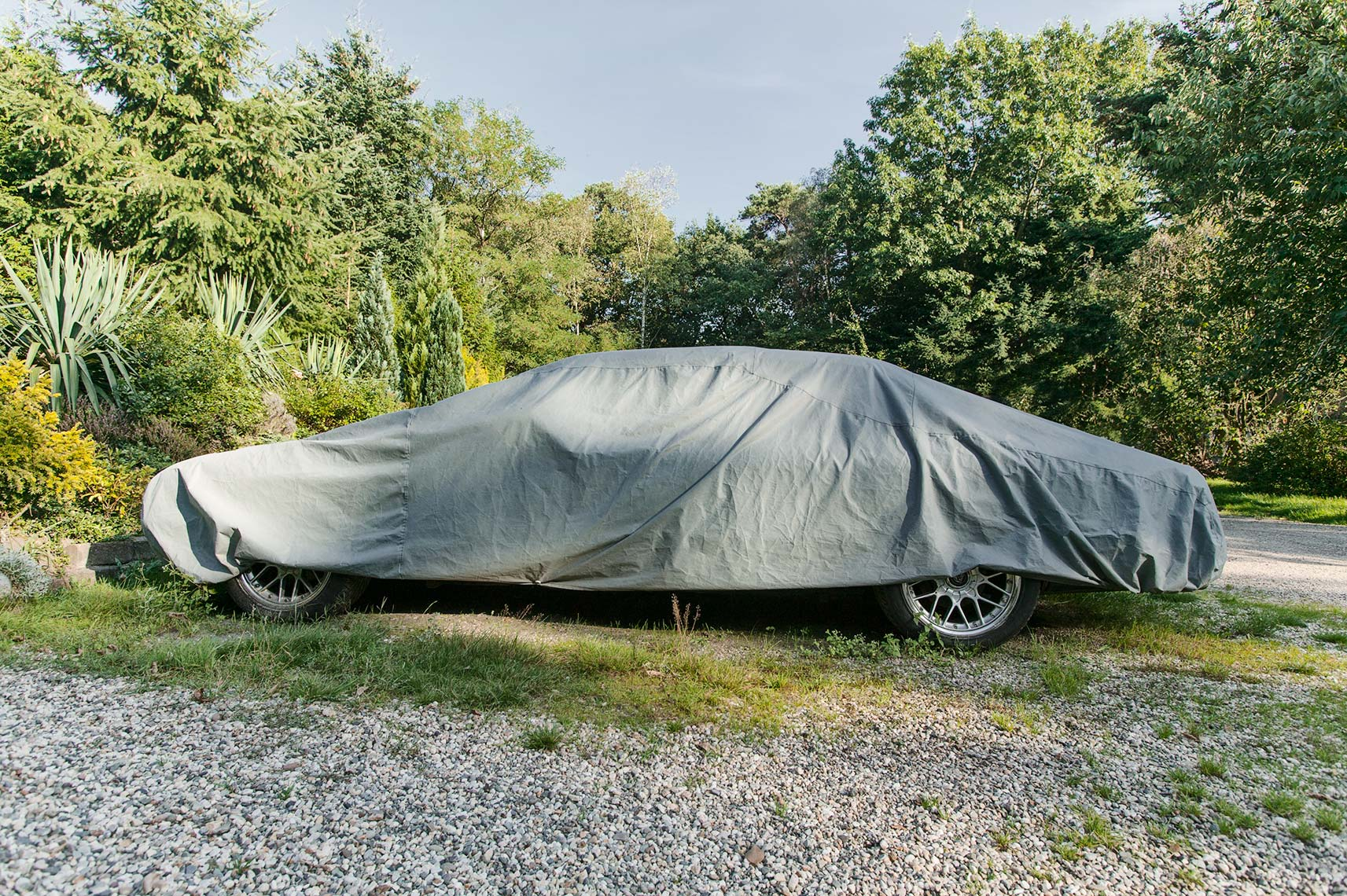 Car, jaguar, covered car, car cover