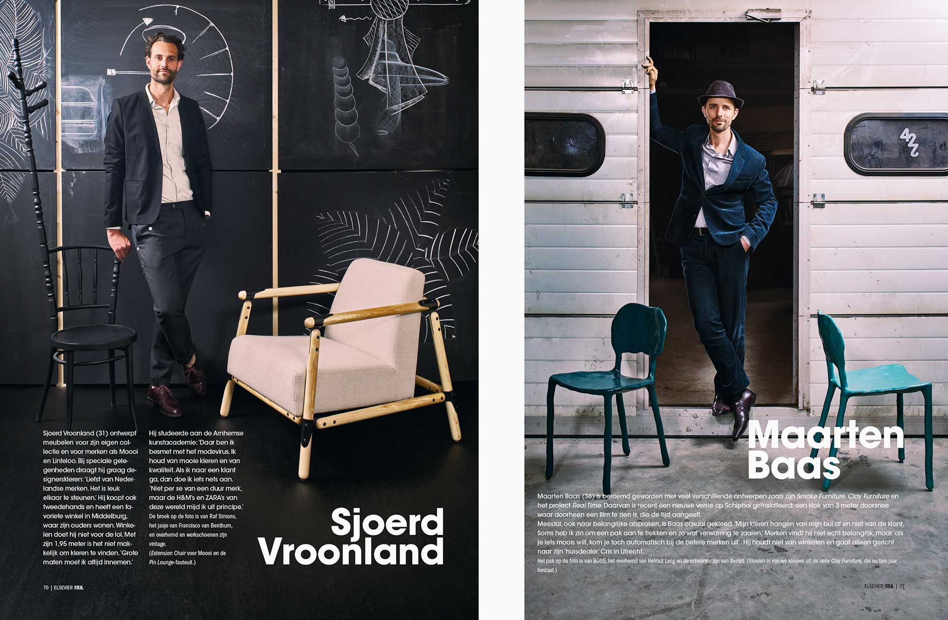 Dressed Dutch Designers Sjoerd Vroonland and Maarten Baas