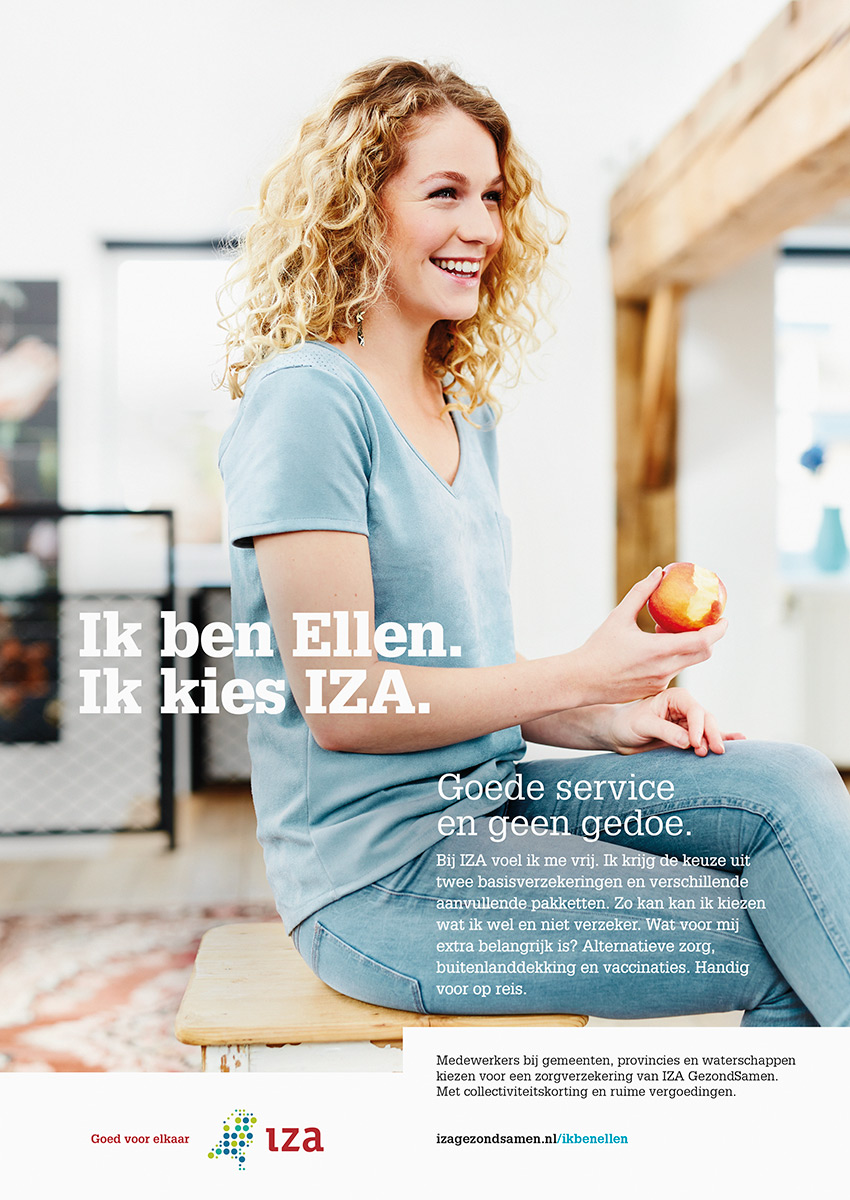 IZA advertentie Ellen