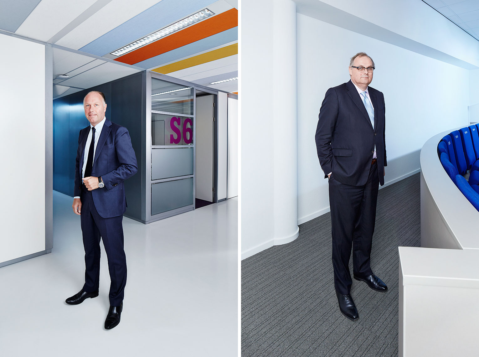 Portraits of ING Nick Jue and professor Jaap Koelewijn